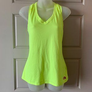Neon Yellow North Face Racer back Tank